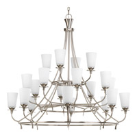 Cantata 20 Light 42 inch Brushed Nickel Chandelier Ceiling Light in Etched Glass Painted White Inside