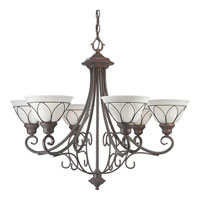 Progress Lighting Verona 6 Light Chandelier in Cobblestone P4052-33