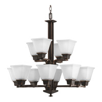 Progress P4053-74 North Park 12 Light 27 inch Venetian Bronze Chandelier Ceiling Light