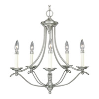 Progress Lighting Avalon 5 Light Chandelier in Brushed Nickel P4057-09