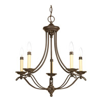 Avalon 5 Light 27 inch Antique Bronze Chandelier Ceiling Light