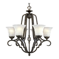 Melbourne 6 Light 28 inch Espresso Chandelier Ceiling Light