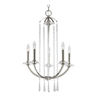 Progress Lighting Thomasville Nisse 5 Light Chandelier in Polished Nickel P4062-104