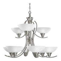 Progress Lighting Sentura 9 Light Chandelier in Brushed Nickel P4066-09 photo thumbnail