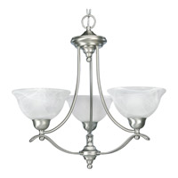 Progress Lighting Avalon 3 Light Chandelier in Brushed Nickel P4067-09