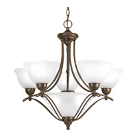 Avalon 5 Light 26 inch Antique Bronze Chandelier Ceiling Light in Alabaster Glass