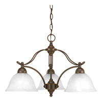 Avalon 3 Light 24 inch Antique Bronze Chandelier Ceiling Light in Alabaster Glass