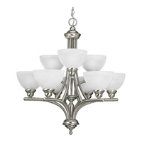 Progress Lighting Glendale 9 Light Chandelier in Brushed Nickel P4085-09