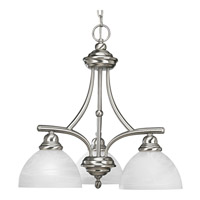 Glendale 3 Light 21 inch Brushed Nickel Chandelier Ceiling Light