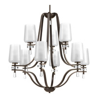 Progress Indulge 9 Light Chandelier in Antique Bronze P4090-20
