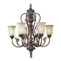 Progress Lighting Thomasville Carmel 6 Light Chandelier in Tuscany Crackle P4092-55
