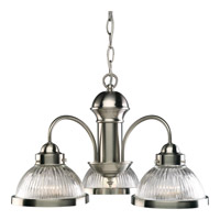 Progress Lighting Prismatic Glass 3 Light Chandelier in Brushed Nickel P4094-09