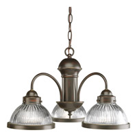 Progress Lighting Prismatic Glass 3 Light Chandelier in Antique Bronze P4094-20