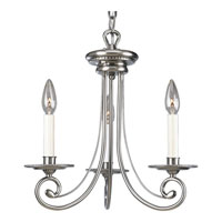 Progress Lighting Bradford 3 Light Chandelier in Antique Nickel P4096-81