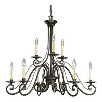 Progress Lighting Bradford 9 Light Chandelier in Forged Bronze P4099-77