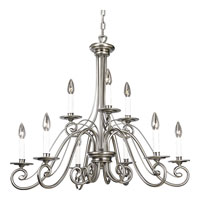 Progress Lighting Bradford 9 Light Chandelier in Antique Nickel P4099-81