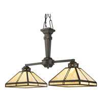 Progress Lighting Arts and Crafts 2 Light Chandelier in Weathered Bronze P4100-46