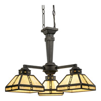 Progress Lighting Arts and Crafts 3 Light Chandelier in Weathered Bronze P4101-46