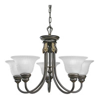 Progress Lighting Huntington 5 Light Chandelier in Forged Bronze P4104-77