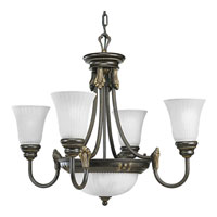 Progress Lighting Huntington 4 Light Chandelier in Forged Bronze P4109-77
