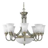 Progress Lighting Huntington 8 Light Chandelier in Colonial Silver P4110-43