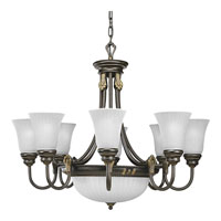 Progress Lighting Huntington 8 Light Chandelier in Forged Bronze P4110-77