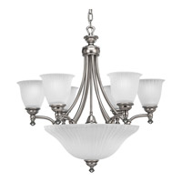Renovations 9 Light 27 inch Antique Nickel Chandelier Ceiling Light