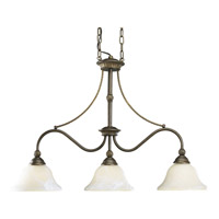 Progress Lighting Savannah 3 Light Chandelier in Burnished Chestnut P4117-86