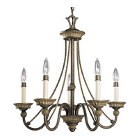 Progress Lighting Savannah 5 Light Chandelier in Burnished Chestnut P4120-86
