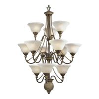 Progress P4122-86 Savannah 12 Light 33 inch Burnished Chestnut Chandelier Ceiling Light photo thumbnail