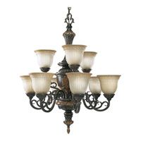 Progress Lighting Thomasville Provence 9 Light Chandelier in Old Iron Crackle P4128-92C