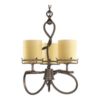 Progress P4131-114 Willow Creek 3 Light 19 inch Weathered Auburn Chandelier Ceiling Light photo thumbnail