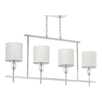 Status 4 Light Polished Chrome Island Chandelier Ceiling Light
