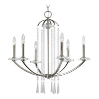 Progress P4139-104 Nisse 6 Light 26 inch Polished Nickel Chandelier Ceiling Light