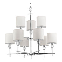 Status 9 Light 32 inch Polished Chrome Chandelier Ceiling Light