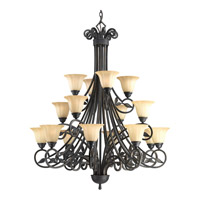 Progress Lighting Le Jardin 16 Light Chandelier in Espresso P4147-84