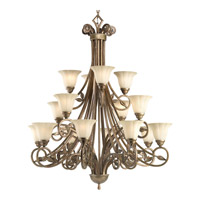 Progress Lighting Le Jardin 16 Light Chandelier in Biscay Crackle P4147-91C