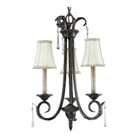 Progress Lighting Veranda 3 Light Chandelier in Espresso P4153-84