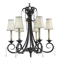 Progress Lighting Veranda 6 Light Chandelier in Espresso P4154-84