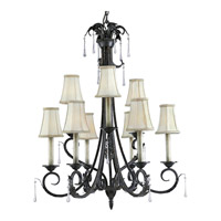 Progress Lighting Veranda 9 Light Chandelier in Espresso P4155-84