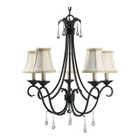 Progress Lighting Veranda 5 Light Chandelier in Espresso P4157-84
