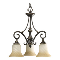 Progress Lighting Kensington 3 Light Chandelier in Forged Bronze P4158-77