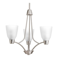 Progress Asset 3 Light Chandelier in Brushed Nickel P4171-09