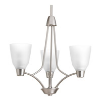 Progress Asset 3 Light Chandelier in Brushed Nickel P4171-09WB