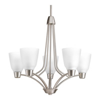 Progress Asset 5 Light Chandelier in Brushed Nickel P4172-09