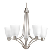 Progress Asset 5 Light Chandelier in Brushed Nickel P4172-09WB