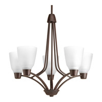 Progress Asset 5 Light Chandelier in Antique Bronze P4172-20WB