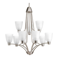 Progress Asset 9 Light Chandelier in Brushed Nickel P4173-09