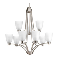 Progress Asset 9 Light Chandelier in Brushed Nickel P4173-09WB