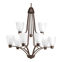 Progress Asset 9 Light Chandelier in Antique Bronze P4173-20